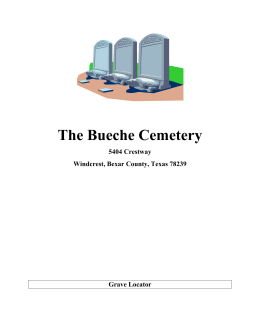 Burial Records - Bueche Cemetery