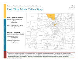 Music Tells a Story Instructional Unit