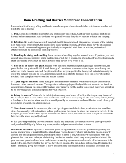 Consent for Grafting