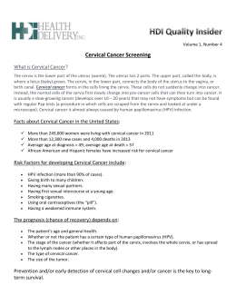 HDI Quality Insider Voume 1, Number 4 – Cervical Cancer Screening