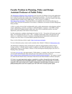 Faculty Position in Planning, Policy and Design: Assistant Professor