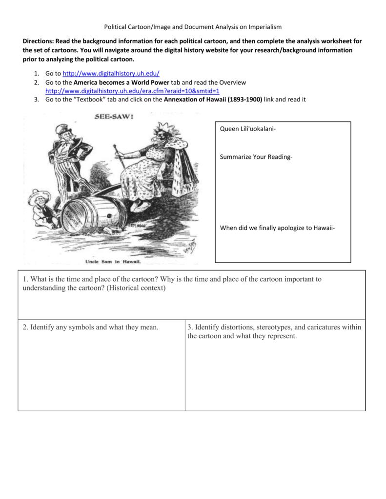 Cartoon Analysis Worksheet Answers - best worksheet