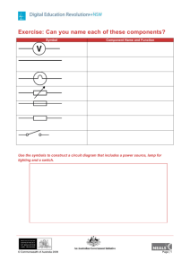 Electrical symbols worksheet