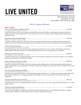 Agency Directory - United Way NWLA