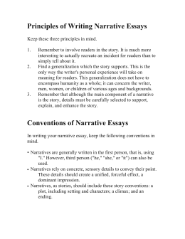 Principles of Writing Narrative Essays