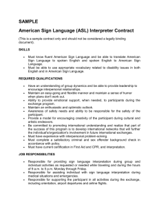 Sample ASL Interpreter Contract