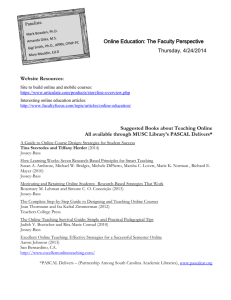 Online Education: The Faculty Perspective Hand
