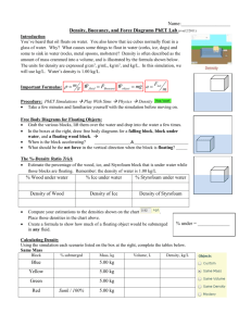 PhET Density Activity Funsheet
