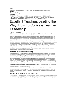 What is the status of teacher leadership?