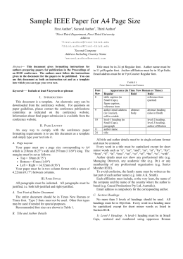 Paper format for Ieee paper format template download