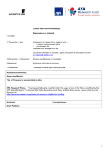 AXA nomination form
