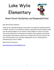 Room Parent Manual LWES 2013
