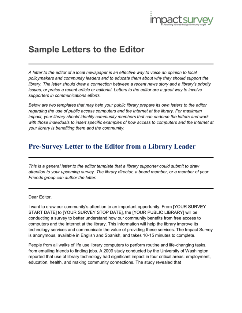 Letter To The Editor Example from s3.studylib.net