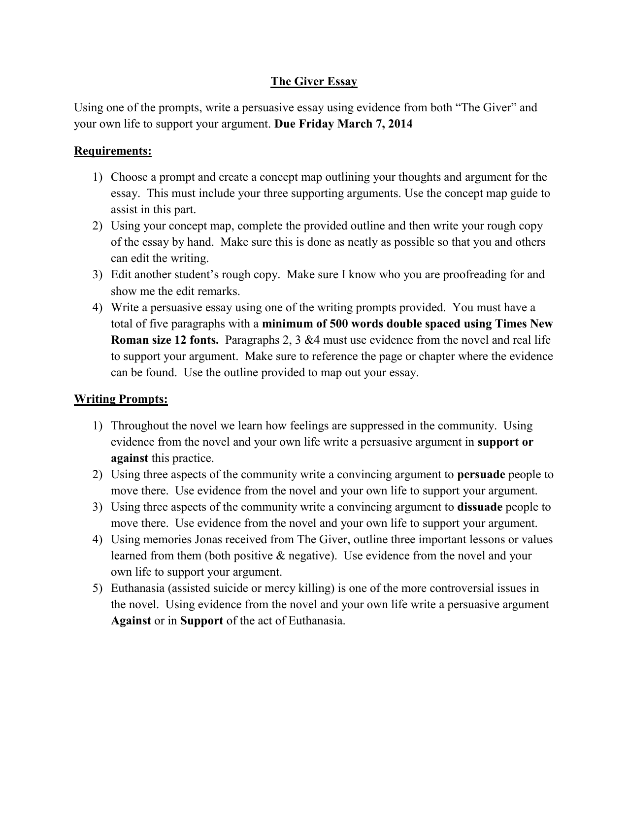 Example Of A Thesis Statement In An Essay  What Is A Thesis In An Essay also How To Write An Application Essay For High School Grade  The Giver Essay Business Essay Sample