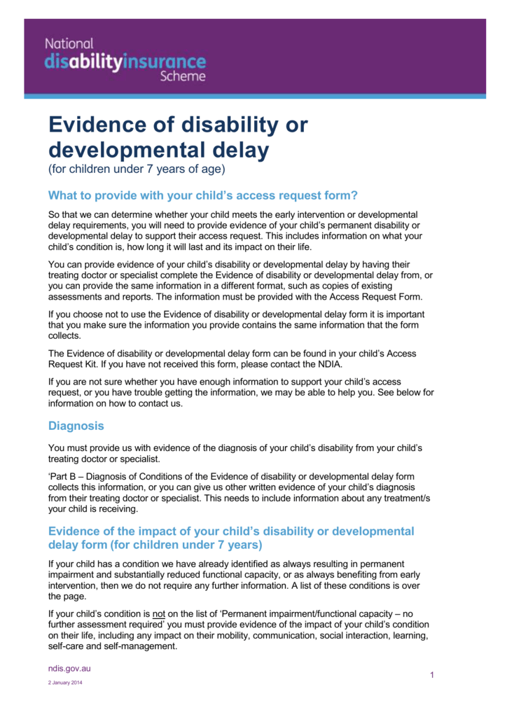 NDIS Fact sheet