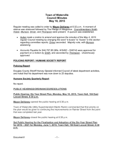 Town of Waterville Council Minutes May 18, 2015