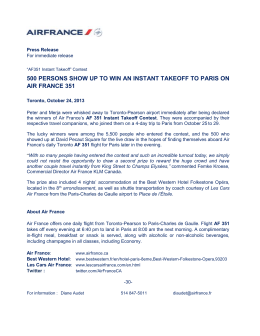 500 persons show up to win an instant takeoff to paris on air france