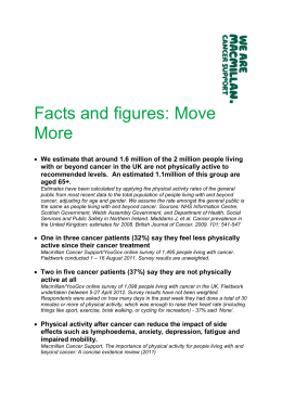 Facts and figures: Move More