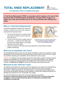 Total Knee Replacement Brochure