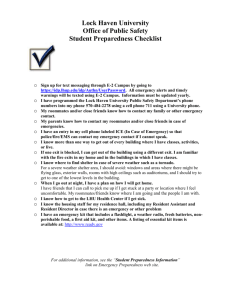 Guide-Student Preparedness Checklist