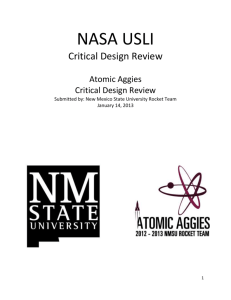 CDR Report - Atomic Aggies - New Mexico State University
