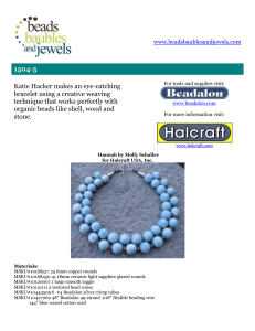 1504-5 - Beads Baubles & Jewels