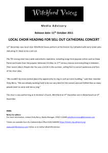 Click here for Cathedral Press Release