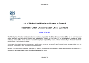Burundi list of Medical facilities/practitioners