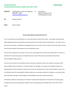 WARREN TOWNSHIP PRESS RELEASE 46 MOUNTAIN