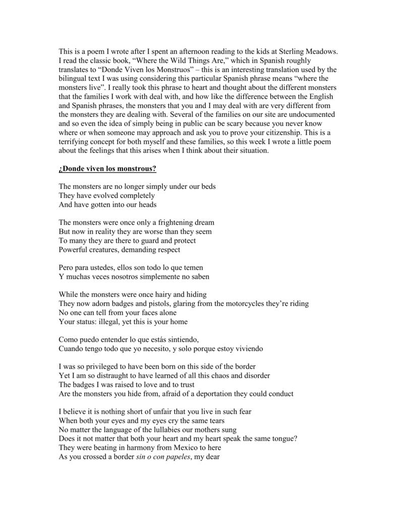 Bilingual Poem