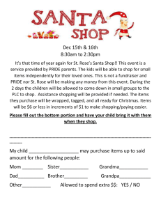 Santashop2015flyer - St Rose of Lima Catholic School