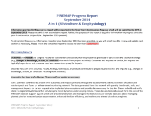 Aim 1 Progress Report_September 2014