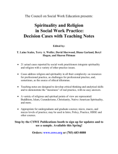 Spirituality and Religion in Social Work Practice