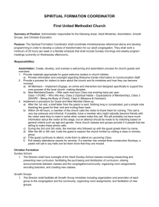 spiritual formation coordinator - First United Methodist Church