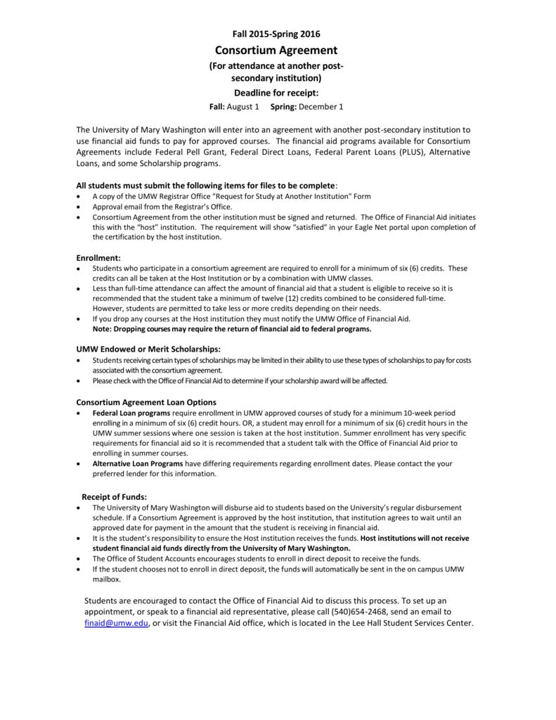 Consortium Request Form 2015 16