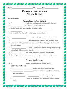 Landforms / Earth Science Study Guide