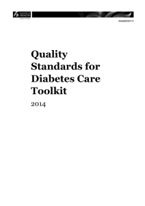 Quality Standards for Diabetes Care Toolkit 2014