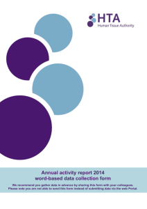 Annual activity data 2014