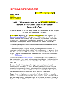 `Call 811` Message Supported by