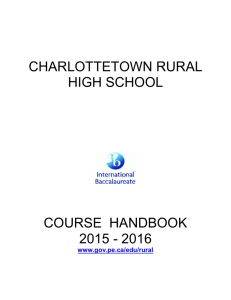 2015-16 Course Handbook - Government of Prince Edward Island