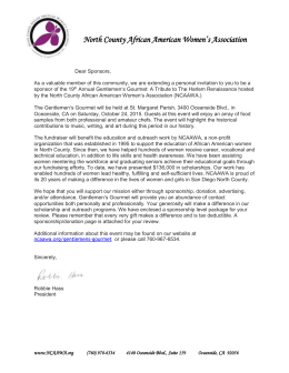 GG Sponsorship Letter - North County African American Women`s