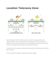 Location Tolerance Zone