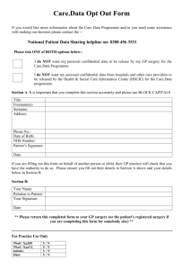 Data Opt Out Form - Bedwell and Roebuck Surgery