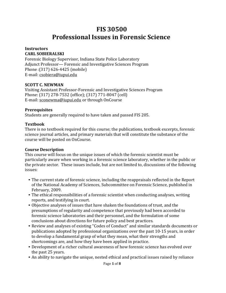Academic Misconduct Forensic Investigative Sciences Iupui