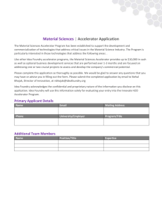 Material Sciences | Accelerator Application