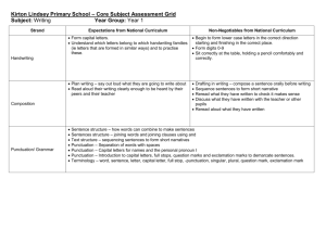 Kirton Lindsey Primary School * Core Subject Assessment Grid