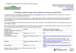 Useful journals and how to search them