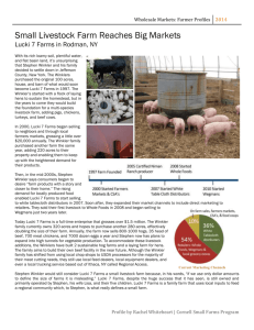 Wholesale Markets: Farmer Profiles
