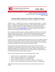 Cal State Online Launches First Degree Completion Program