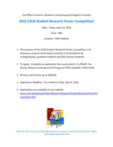 2016 CSUB Student Research Poster Competition